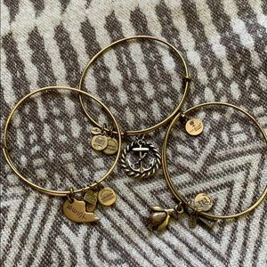 Gold Alex and Ani bundle